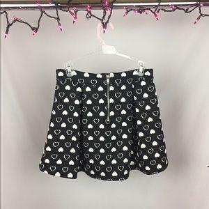 Aeropostale Skirts - Bethany Mota Black Heart Skater Skirt